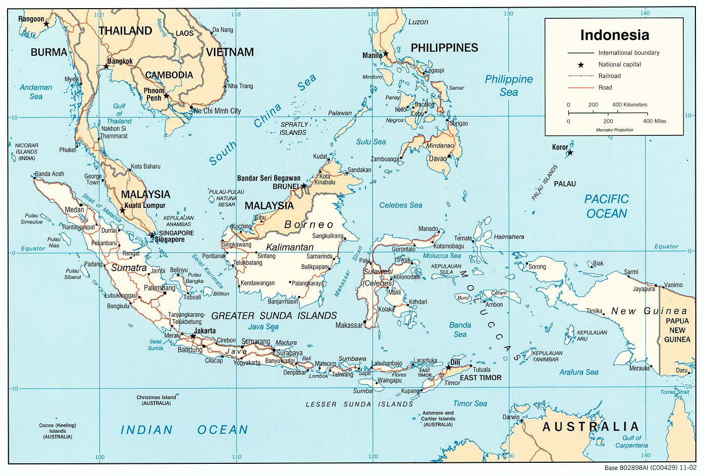 Indonesia Map HiRes