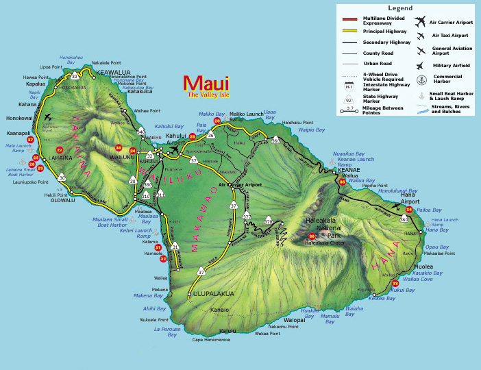 Hawaii Surf Destinations Hawaii Big Islands Map
