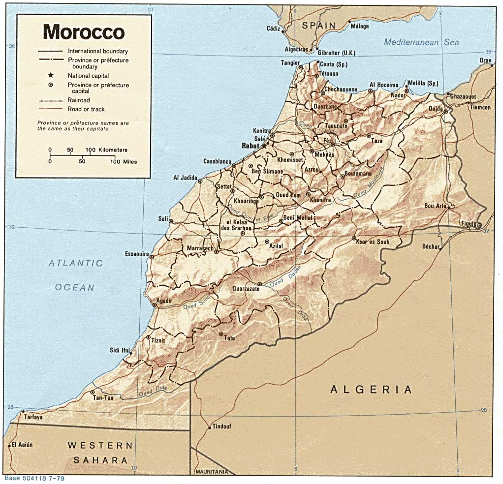 Morocco Surf Trip Destination Map