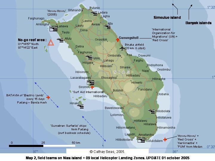 Map of Nias Island Sumatra