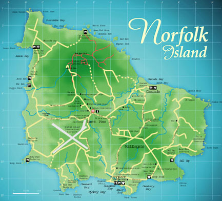 Norfolk Islands Map