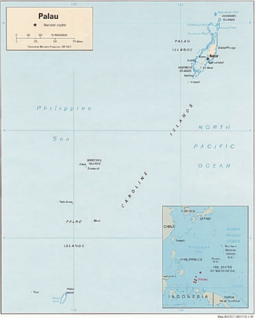 Palau Islands Map