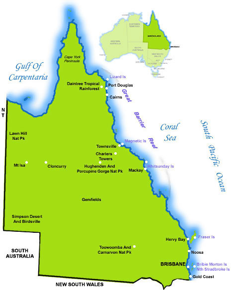 gold coast queensland map. Queensland Gold Coast Surf