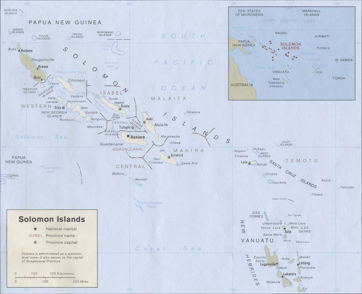 Soloman Islands Map